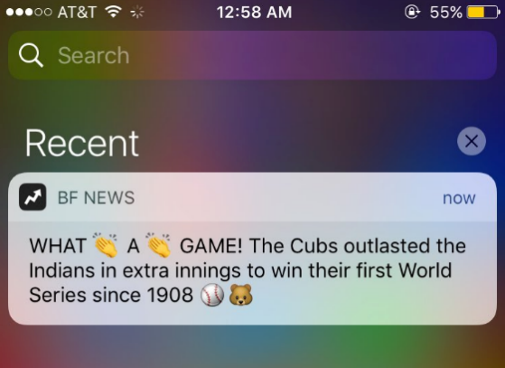 examples of Mobile Push Notifications 11.1