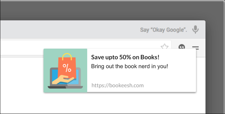 examples of Browser Push Notifications 15